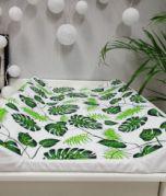 Colchoneta cambiante - hojas verde / blanca